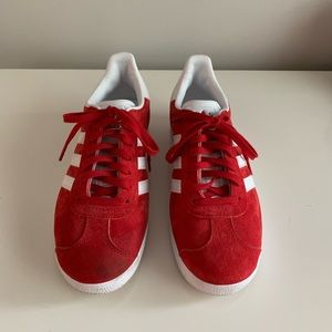 Women's size 8 red adidas gazelles